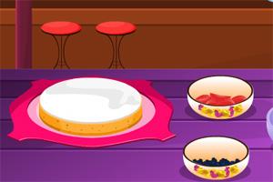 新鲜的水果蛋糕