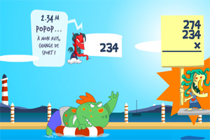 怪物跳水比赛