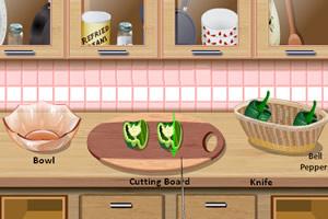 跟莎拉学做鸡肉卷饼
