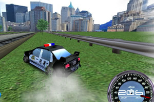 3D警车测速赛