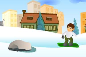 少年骇客学滑雪