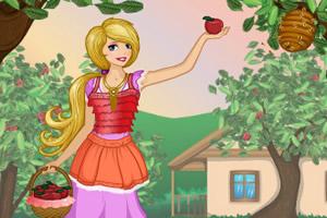 摘苹果的女孩