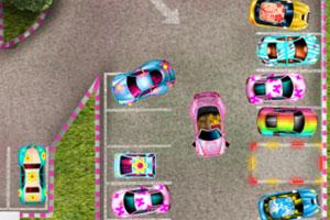 粉红女郎停车