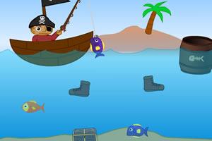 海盗男孩钓鱼