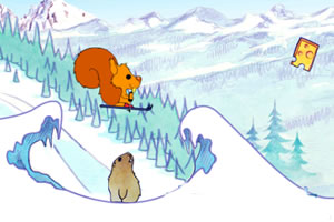 小松鼠滑雪