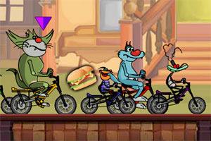 傻猫自行车赛选关版