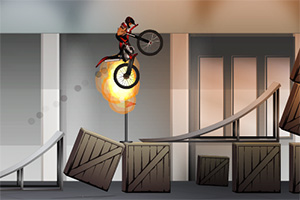室内摩托特技