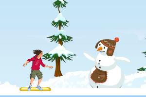 冰上滑板特技