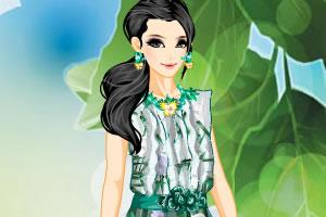 彩色印花裙