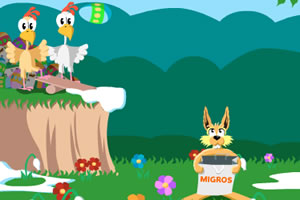 龅牙兔接鸡蛋