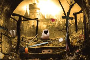 荒废城堡找东西
