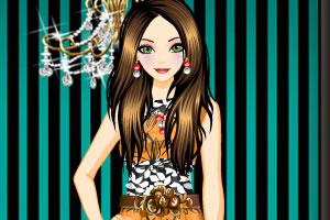 彩色印花裙2