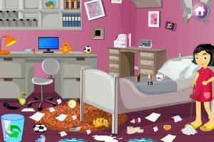 女儿打扫房间