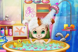 开心宝宝爱洗澡