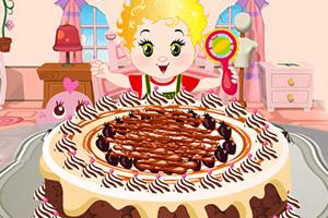 可爱宝贝做蛋糕
