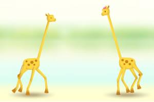 奔跑的长颈鹿