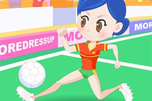 美丽的足球宝贝
