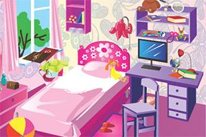 女儿的房间找东西