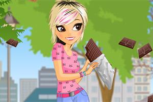 爱吃巧克力的女孩