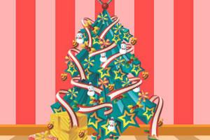 装饰可爱圣诞树