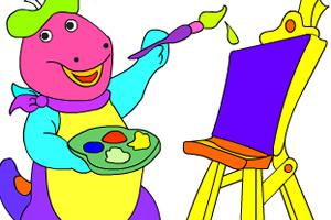 大恐龙填颜色