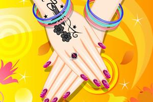 粉红色指甲