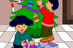 快乐的圣诞填颜色