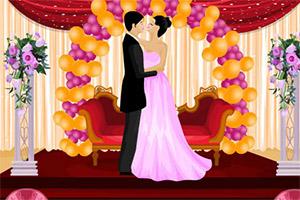 布置结婚礼台