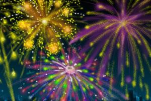 新年焰火里的数字