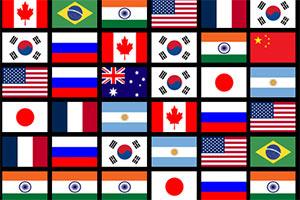 国旗连一连