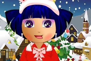 朵拉圣诞晚会装扮