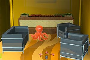 橙色章鱼逃脱