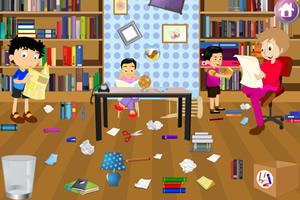 打扫图书馆