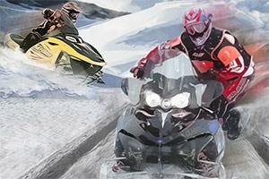 冬季雪橇车比赛