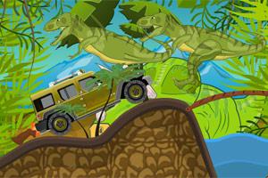 战车撞恐龙