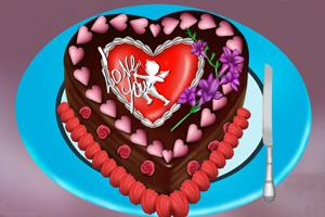 巧克力心形蛋糕