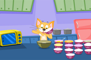 猫咪做蛋糕