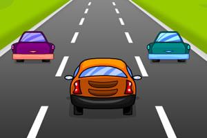 高速奔驰的汽车