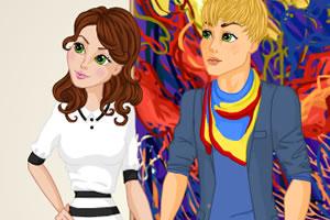 情侣在艺术馆