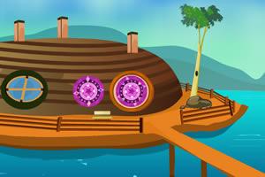 诡异的船型小屋