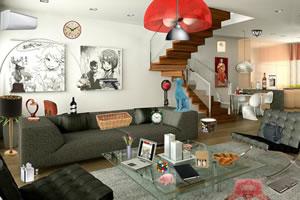 超现代的客房
