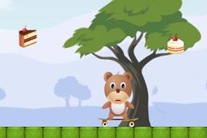 小熊玩滑板