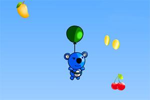 蓝色小熊吃水果