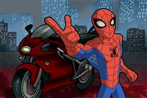 蜘蛛侠摩托飞车