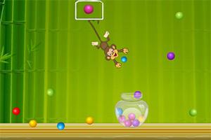 小猴子扔彩球