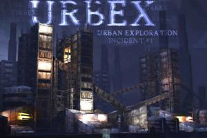 黑暗的城市废墟