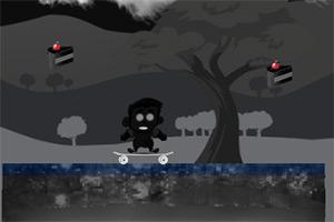 黑夜滑板者