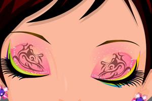 亮丽的眼影