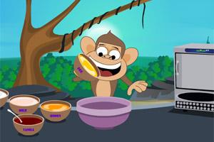 小猴制作冰淇淋