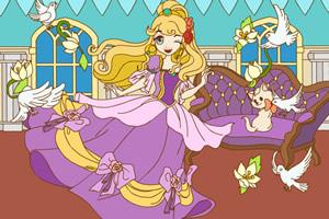 快乐的公主着色